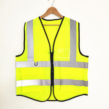 10 Pieces High Visibility Reflective Vest Jacket Fabric Construction Security At Night For Worker