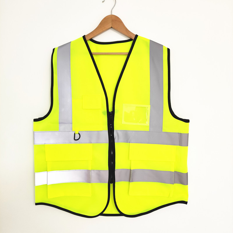 50 Pieces High Visibility Reflective Vest Jacket Fabric Construction Security At Night For Worker