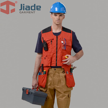 Jiade Mens Vest  Work Vset Travels Sports Vest With Multiple Pockets