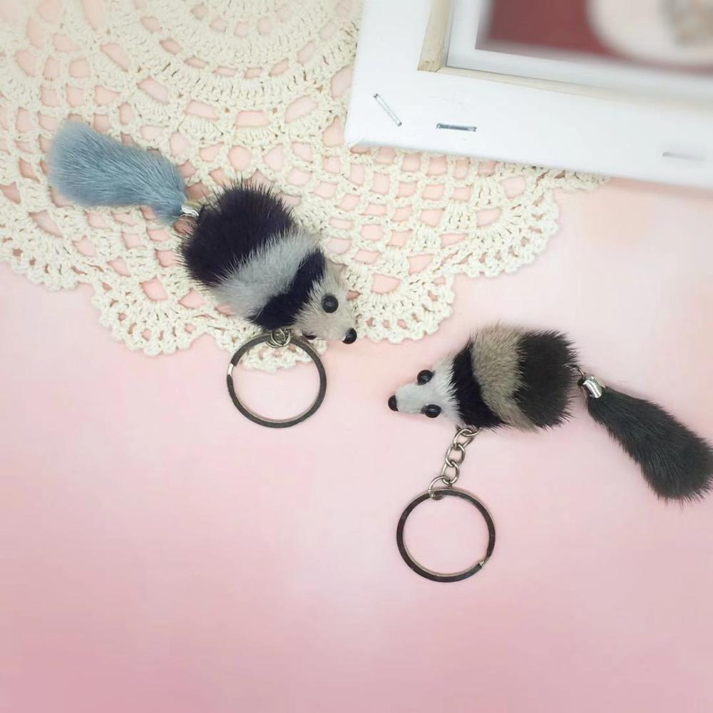 Auto-Parts. Pendants Mouse Small And Mink Buckle Factory-Direct Real-Hair