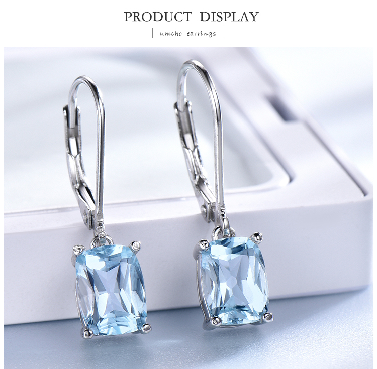 Had1f6b04b3924949abe64f4ae00a5b41V - UMCHO Genuine 925 Sterling Silver Sky Blue Topaz Drop Earrings Elegant Gemstone Wedding Engagement Jewelry For Women Gifts