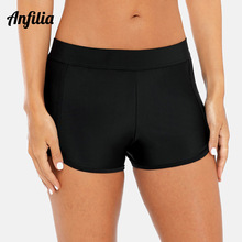Anfilia Women Bikini Bottom Ladies Boardshort Swimming Shorts Ban Skinny Swimwear Briefs Split Tankini Trunks