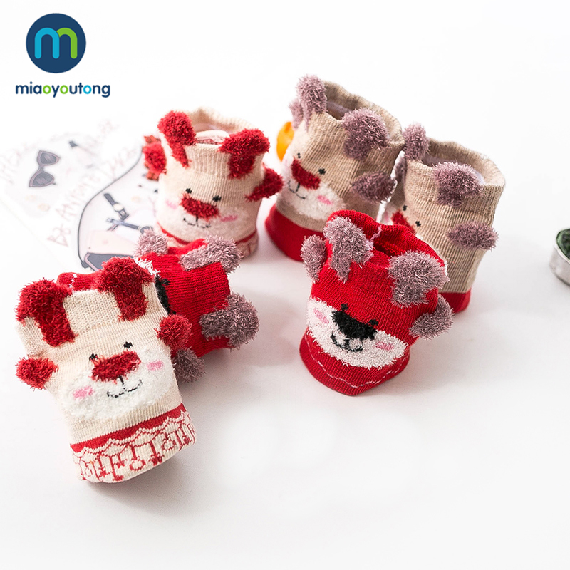 3 Pairs Gift Box Cartoon Cotton Christmas Socks Kids Boy Autumn Winter Warm Baby Girl Socks Children Meias Stuff Miaoyoutong 6