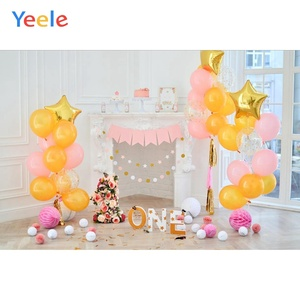 Image 4 - Yeele 1st Birthday Photozone Balloons Balls Cake Photography Backdrops Personalized Photographic Backgrounds For Photo Studio