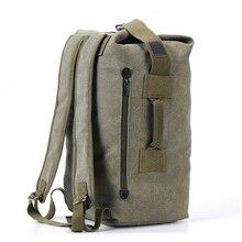 Большой емкости рюкзак мужская дорожная сумка, сумка для альпинизма рюкзак мужской багаж Холст ведро сумки на плечо мужские рюкзаки