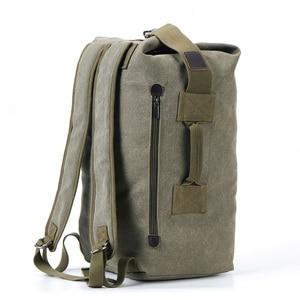 Image 1 - 2019 New Large Capacity Rucksack Man Travel Bag Mountaineering Backpack Male Luggage Canvas Bucket Shoulder Bags Men Backpacks