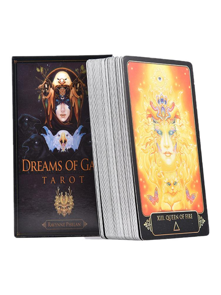 81Pcs Dreams Of Gaia Tarot Cards English Deck Board Games Family Party Playing Card Game For Divination Fate Tarot Deck