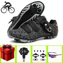 Zapatillas de Ciclismo de montaña para hombre y mujer, calzado de deporte profesional para Ciclismo de carretera con autosujeción
