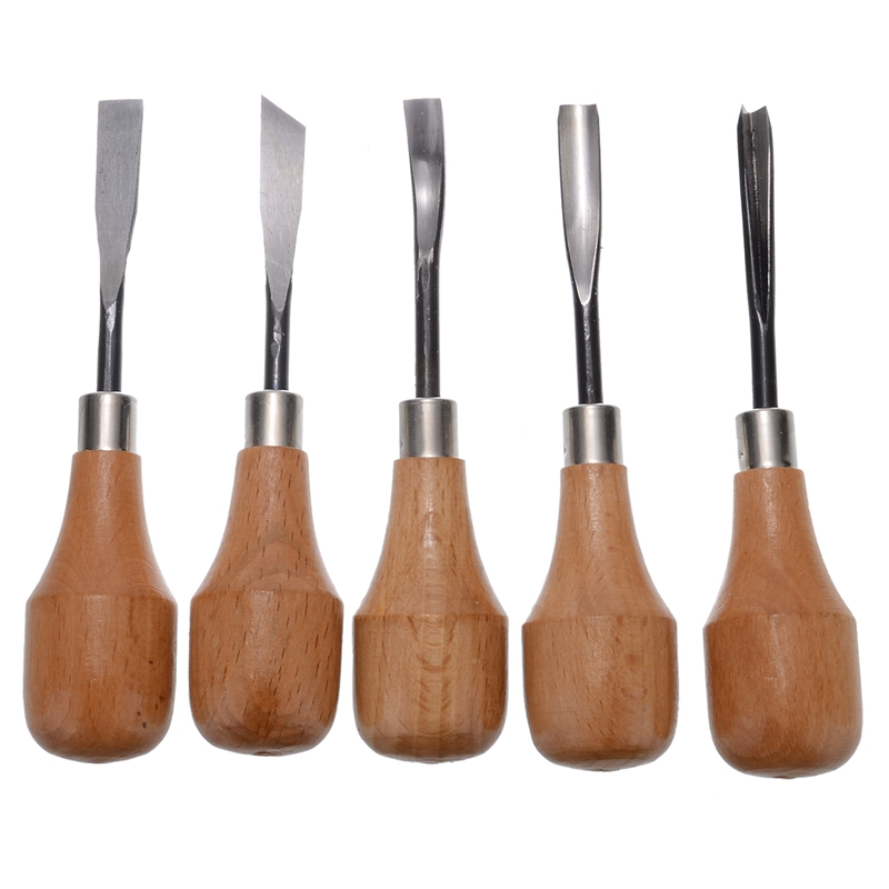 5Pcs Wood Carving Hand Chisels Tools Set Woodworking Gouges Lathe For Home DIY Equipment Hand Tools