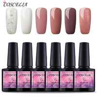 6pc Gel Nail Polish Set LED UV Gel Varnish Manicure Nail Art Extension Set Soak Off Gel Varnish 8ml Nail Gel Polish Kit