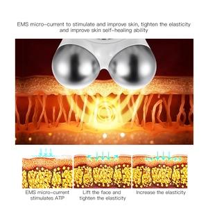 Image 4 - 미니 ems microcurrent 얼굴 리프트 기계 피부 회춘 spa usb 충전식 얼굴 주름 제거제 아름다움 마사지