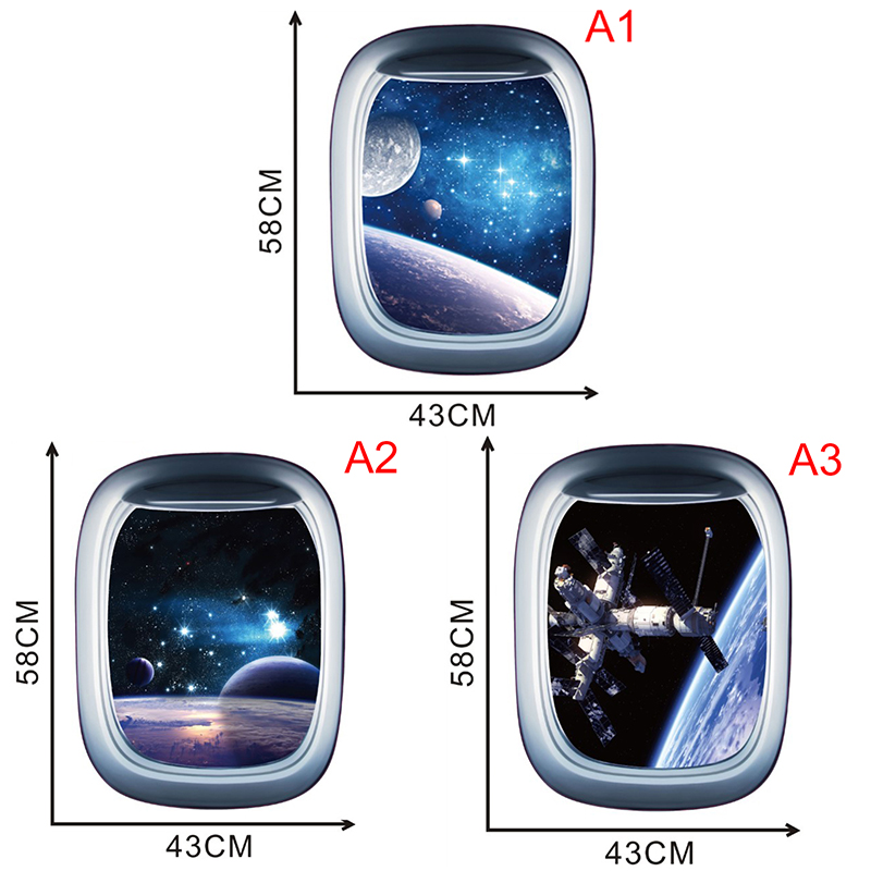 3d Universe Black Hole Outer Space Planets Wall Stickers Cosmic Galaxy Decal For Kids Room Bedroom Ceiling Decor Wall Stickers Aliexpress