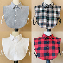 Women Fake Collar Blouse Vintage Detachable Shirt Collar False Collar Lapel Blouse Top Women Clothes Accessories