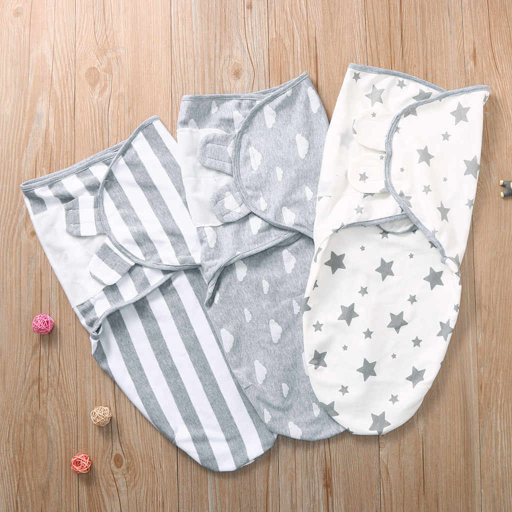 Newborn Baby Swaddle Wrap Cotton Soft Stripe Infant Baby Blanket & Swaddling Wrap Blanket Sleepsack spiwor z dzianiny #3F
