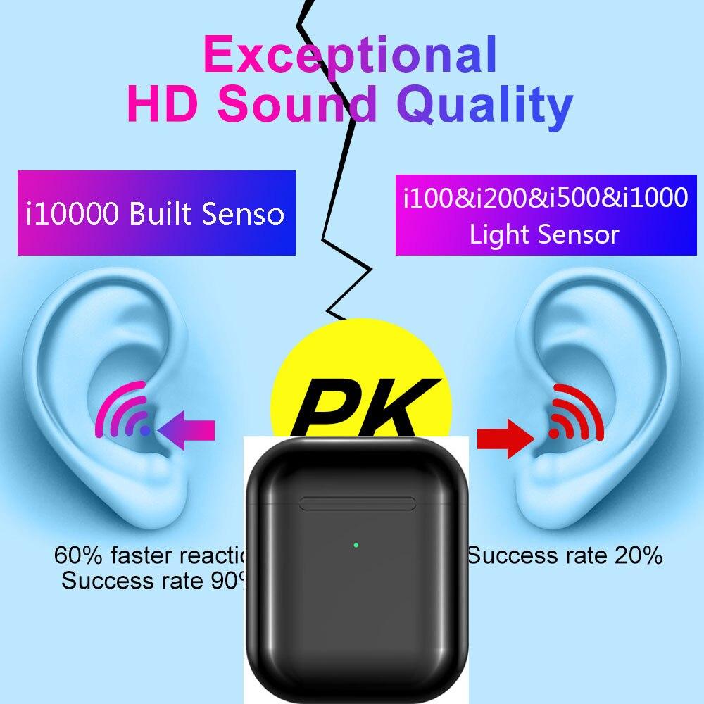 I10000TWS Air2 8D basse pop-up de recharge sans fil Bluetooth casque 1536UPK W1 puce i200 i2000 i5000 i500 i1000 i800