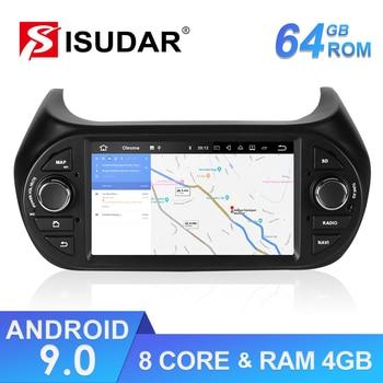 Isudar 1 Din Auto Radio Android 9 For FIAT/Fiorino/Qubo/Citroen/Nemo/Peugeot/Bipper Car Multimedia Audio Player GPS USB DVR DSP