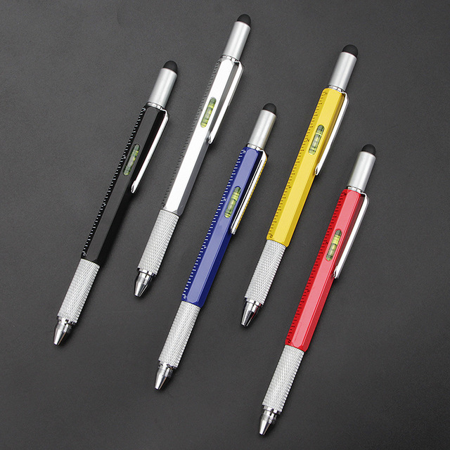 Creative multi-function metal ball-point pen hexagon pen liuhe a scale 1