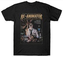 RE-ANIMATOR T SHIRT FANTASY HORROR 1970'S FILM MOVIE Free shipping new fashion 100% Cotton For Man Tee cheap wholesale недорго, оригинальная цена