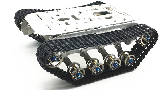 Shock Absorption Tracked Robot Tank Chassis Caterpillar Car With 2pcs Encoder Motor For Arduino Raspberry Pi DIY Project Parts