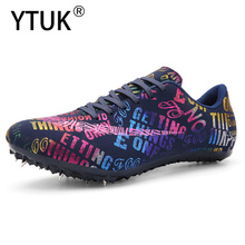 YTUK Men's Track and Field Shoes Professional Women Track Spike Running Sprint Jumping Training Race Run Athletic Shoes 35-45