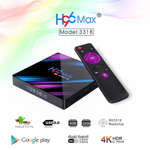 Oryginalny H96 MAX Android 10.0 Smart TV Box 4GB pamięci RAM 64GB ROM RK3318 H96Max smart tv smart tv box android pk X96 max t95 x96 min