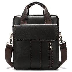 2020 nouveau Vintage Crossbody hommes sac à bandoulière en cuir véritable porte-documents sac pour hommes rétro fermeture éclair affaires hommes sac à main de mode
