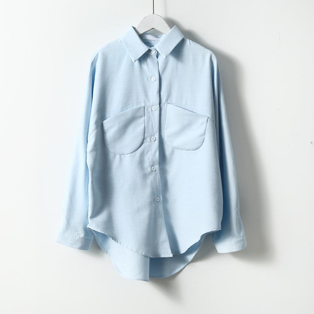 2020 Spring Women Summer Blouse Korean Long Sleeve Womens Tops And Blouses Vintage Women Shirts Blusas Roupa Feminina Tops 5