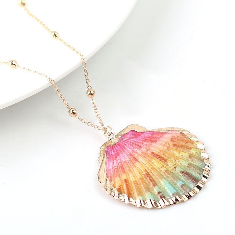 2020 Boho Conch Shell Necklace Shell Gold Shell Chain Necklace Women Seashell Choker Necklace Pendants Jewelry Bohemian Female