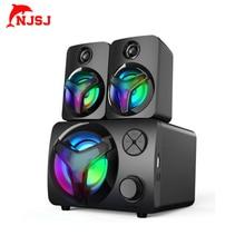 Njsj Multi-Function Bluetooth Speaker Music Computer Speaker For Home Laptop TV With Memory Function Computer Speaker