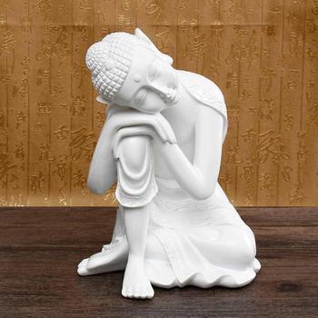 Asian resin statue 19x17x25cm sleeping Buddha portrait Buddhism sculpture cabinet decoration home furnishings ornaments p2332