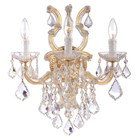 Maria Theresa Crystal Wall Light Lighting Modern Wall Lamp Chrome Sconce Lighting 3 Head +Free shipping!