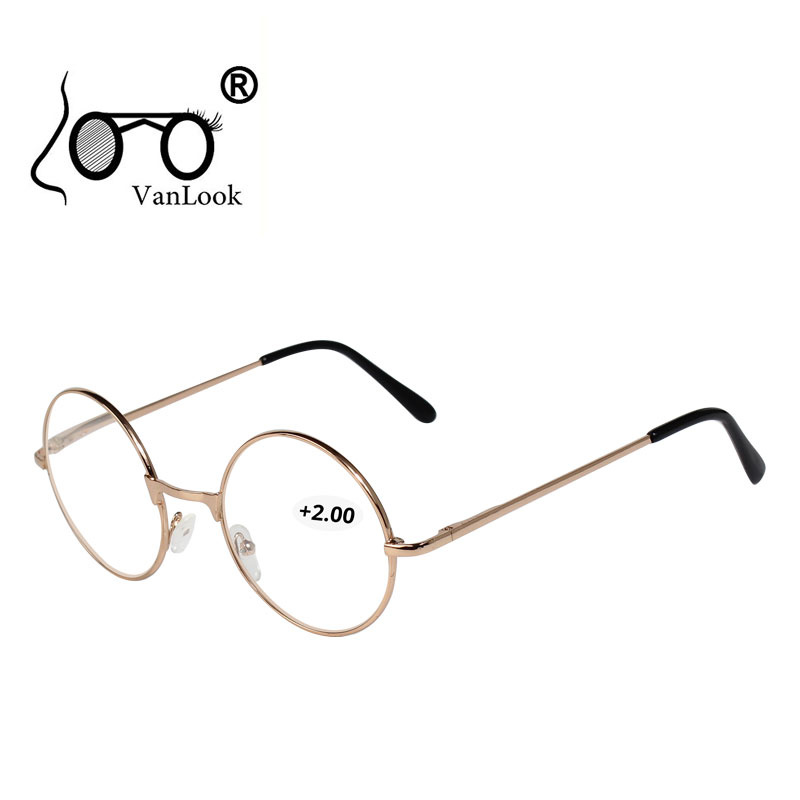 Round Reading Glasses for Men Women 100 +125 150 175 200 225 250 +275 300 325 350 375 400 Spectacles Farsighted Gafas de Lectura image