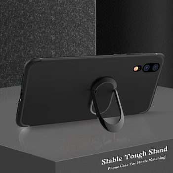 Case for Huawei Mate 20X 20 Lite 10 Pro Y7P Y7 Prime 2018 2019 Ascend Y625 Y635 Case Shockproof Stand Holder Car Ring Cover image