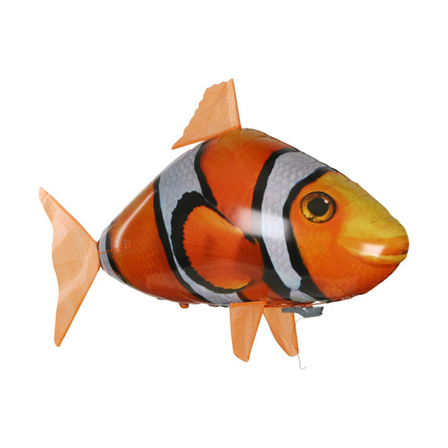 Remote Control Flying Fish Shark Clownfish Electric Air Inflatable Flying Fish Remote Control Toy Gifts for Kids