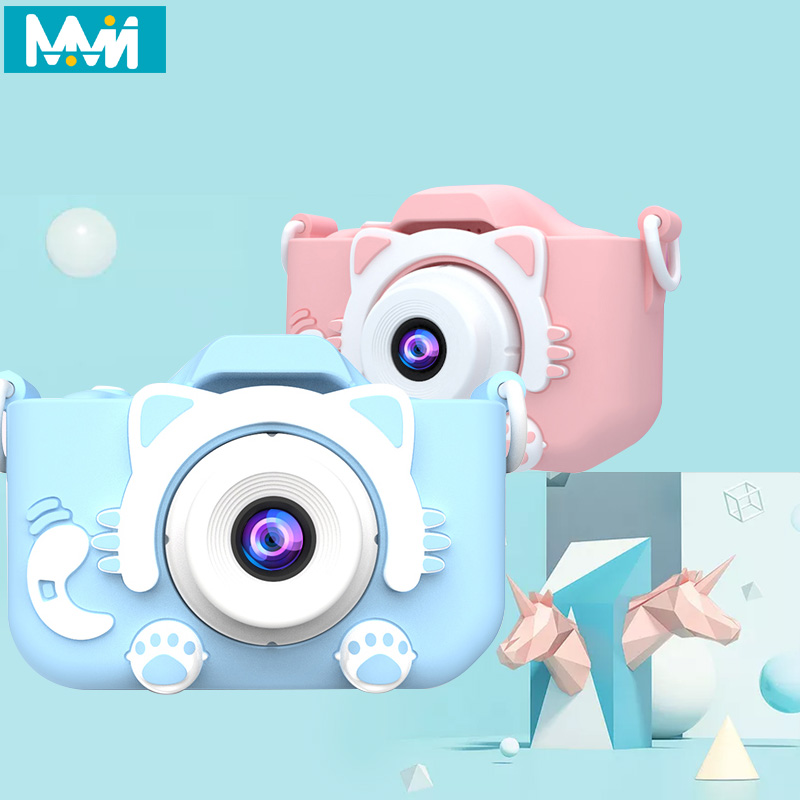 X5S Children's Camera Cute Toy Cat Mini Digital Camera IPS Screen Education Toys For Kids Camera for Children Birthday Gift