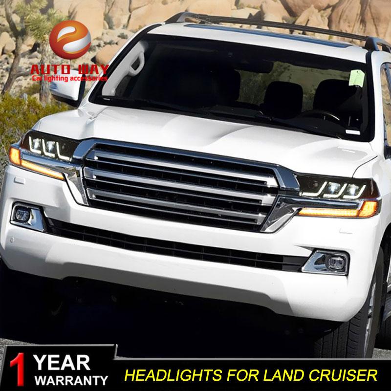 Чехол для фар Toyota LAND CRUISER, СВЕТОДИОДНЫЙ DRL светильник для фар Toyota LAND CRUISER 200 2016 2019