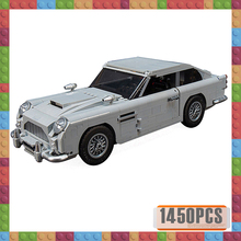 New LELEing Technic Series 10262 Aston Martin DB5 Sets Car Model Building Blocks Children Gifts Toys Compatible with Bricks new 50pcs cross axle series bricks model building blocks toy boy technic parts children toys compatible with lego bricks