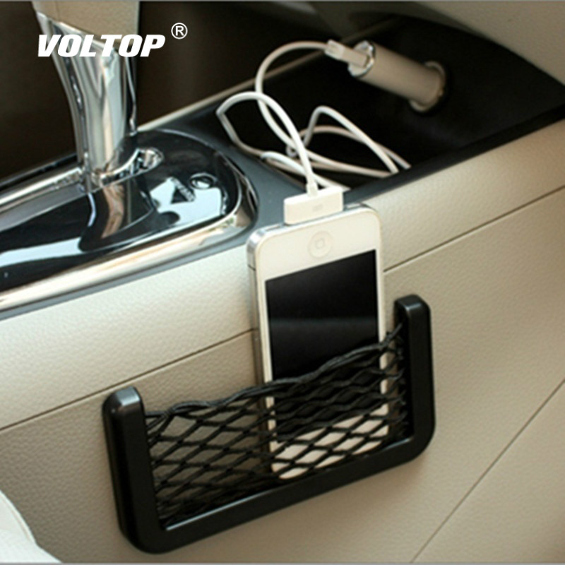 1pcs Car Storage Bag Net Pocket Accessories For Girls Car Hanging Ornament Decoration Can Place The Phone Change Card