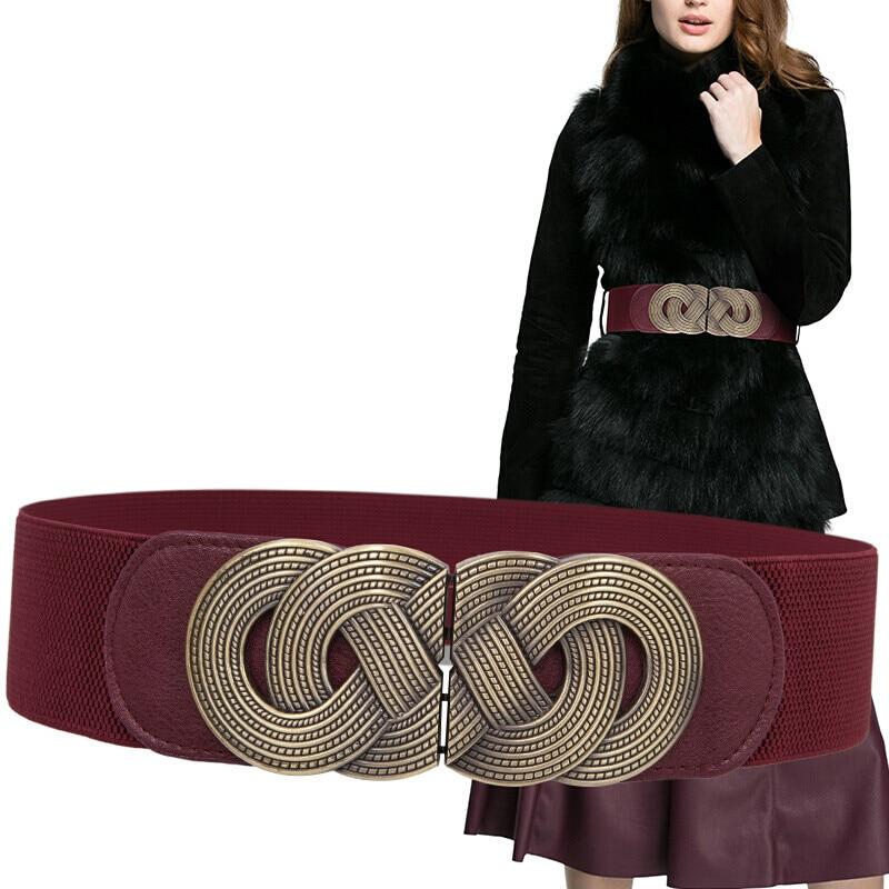 H3304 Waist Belt Women's Wide Korean Elastic Waist Seal Female Metal Buckle Fashion Leisure Vintage High Quality 6cm Waistband