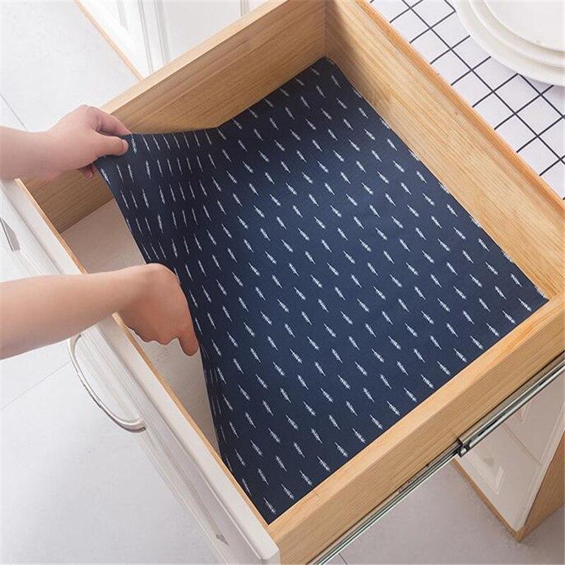 Waterproof Mat For Kitchen Non Slip Cupboard Placemat Table Drawer Cabinet Shelf Liner Antibacterial Moisture Mildew Pad Sticker