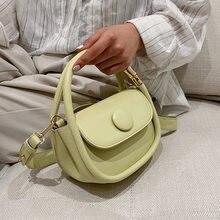 Mini sacs à bandoulière en cuir PU pour femmes, sac à main et bourse de luxe, fourre-tout Simple et à la mode, de styliste, 2021
