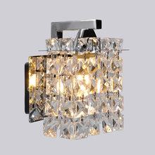 Artpad Crystal Led Wall Lamp Modern Indoor Home Lighting Bathroom Corridor Lights Stainless Steel Base Bedside lamp Wall Light lustre wall sconce modern led crystal wall light lamp with 2 lights for home lighting stainless steel plating