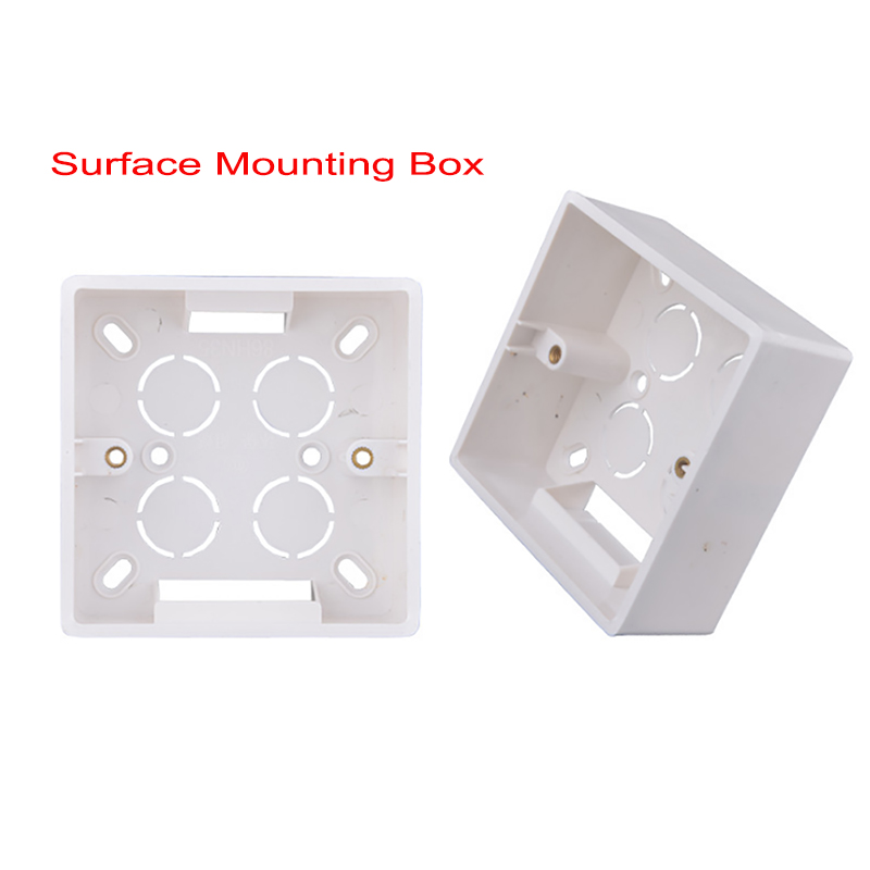 SANDIY Wall Surface Mounting Box 86mm*86mm*45mm for External Wall Switches and Sockets Apply For Outside White Socket Box