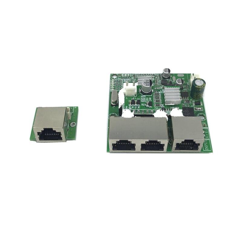 3-port Poe Gigabit Switch Module 48V2A 96w-144w 3 Port 10/100/1000M  RJ45 POE Contact Port Mini Switch Module PCBA Motherboard