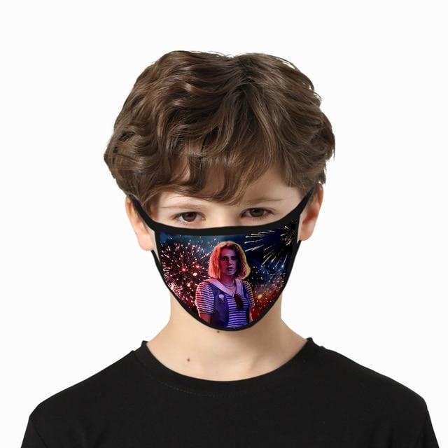 Stranger Things 3D Print Mask High Quality Harajuku Cosplay Washable Mask Hip Hop Streetwear Stranger Things Face Mask 5