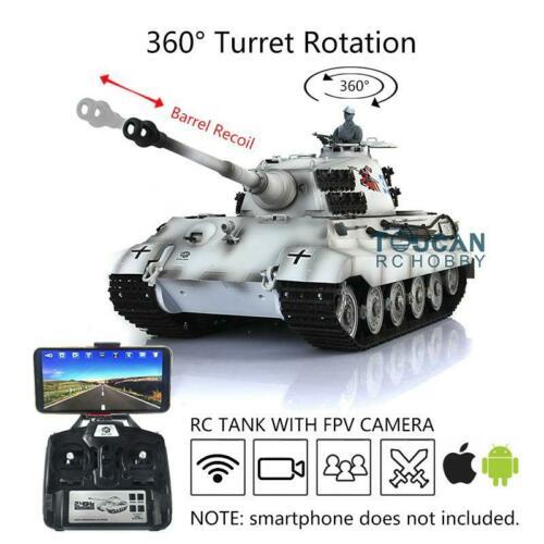 Henglong 1/16 FPV 6.0 Customized King Tiger RC Tank 3888A Barrel Recoil
