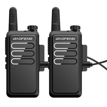 De Baofeng BF-C9 Mini Walkie Talkie 400-470MHz UHF Radio de dos vías portátil VOX de carga USB transceptor portátil. bf-888s bf888s