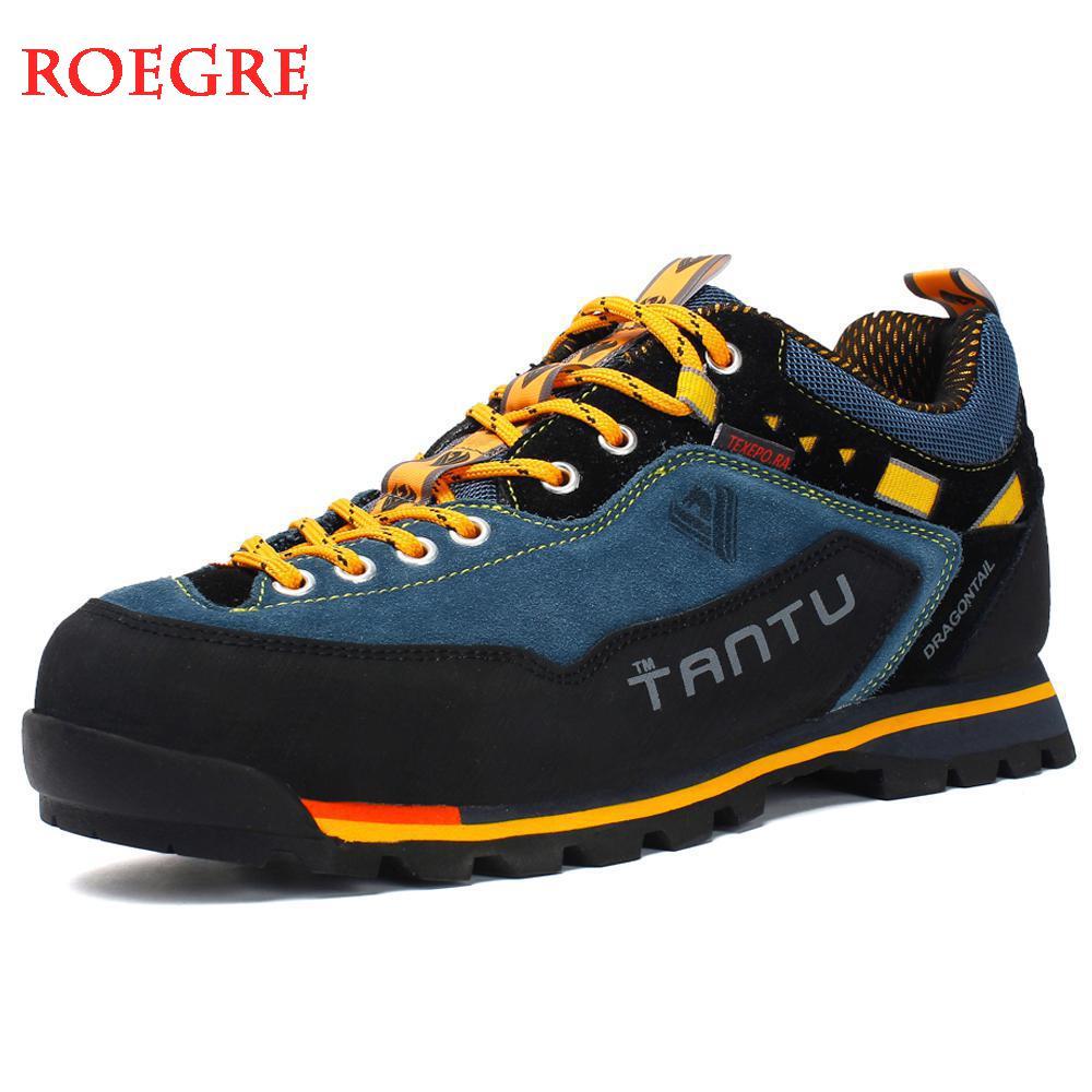 2019 Waterproof Hiking Shoes Mountain Climbing Shoes Outdoor Hiking Boots Trekking Sport Sneakers Men Hunting Trekking Size 46