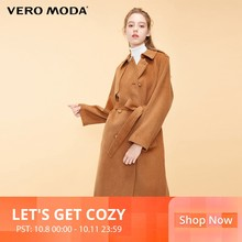 Vero Moda Women's New British Wind Raglan Sleeves Long Woolen Coat | 318327536(China)