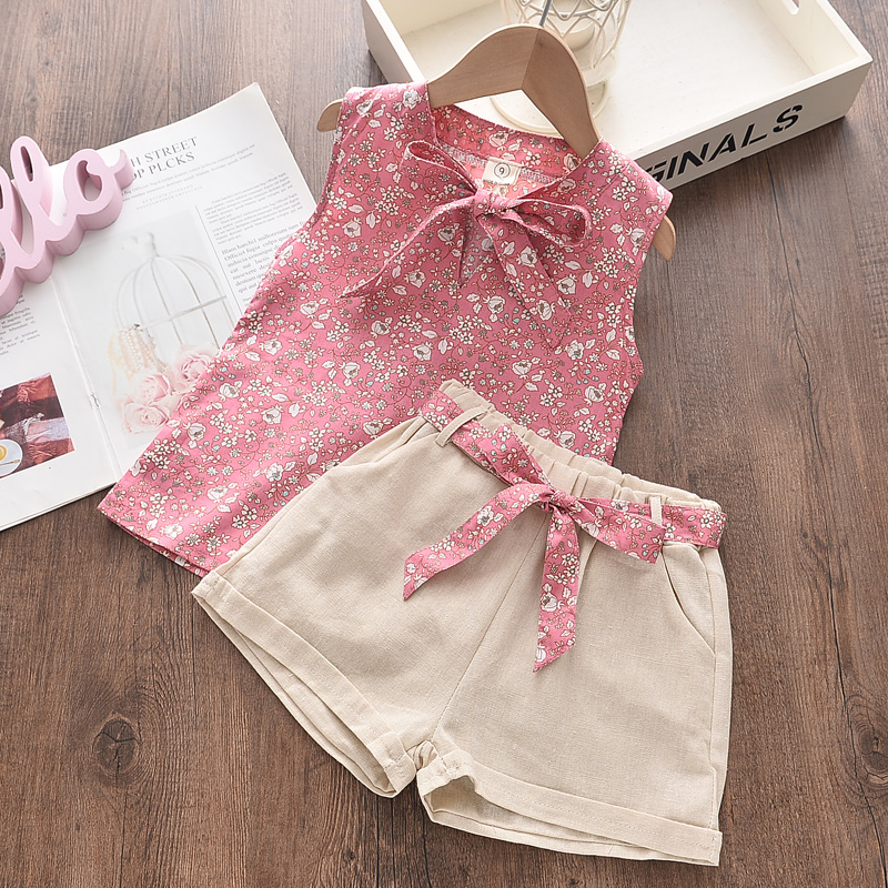 Bear Leader Girls Suit Summer Girls Clothes Colorful Printing Pants 2PCS Suit Kids Christmas Set Casual Kids Chiffon Suit 5